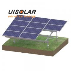 Ground solar mount racking system